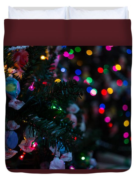 Duvet Cover featuring the photograph Sweet Sparkly by Lora Lee Chapman