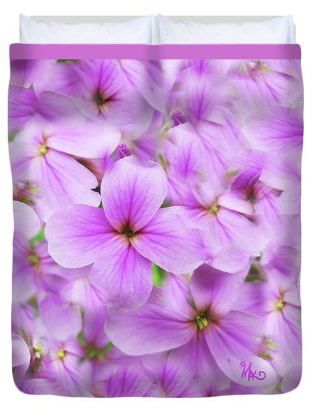 Sweet Spring Meadow Flox Duvet Cover