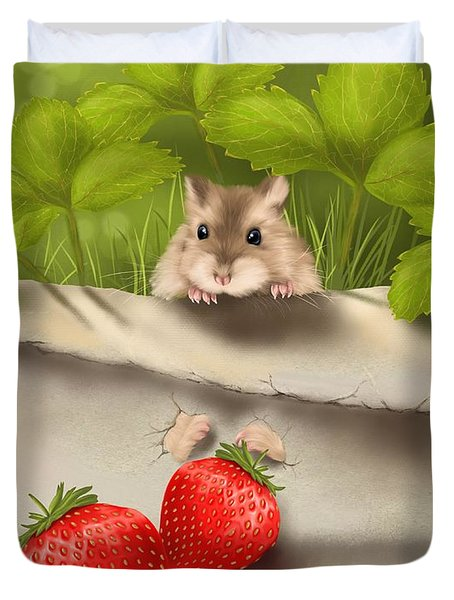 Sweet Surprise Duvet Cover by Veronica Minozzi