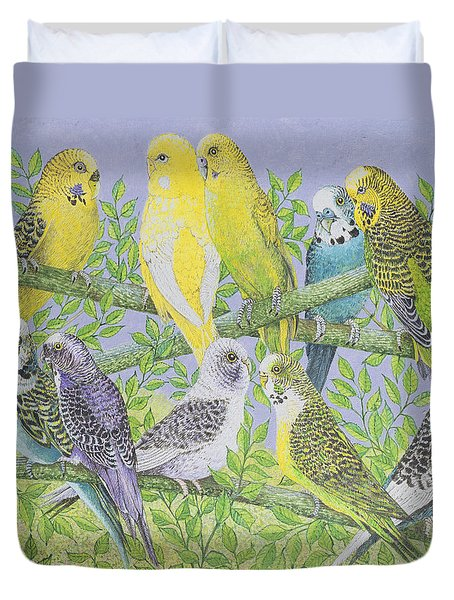 Sweet Talking Duvet Cover by Pat Scott