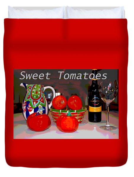 Sweet Tomatoes Duvet Cover