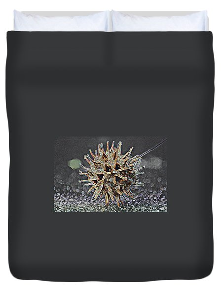 Duvet Cover featuring the photograph Sweetgum Ball by Donna G Smith