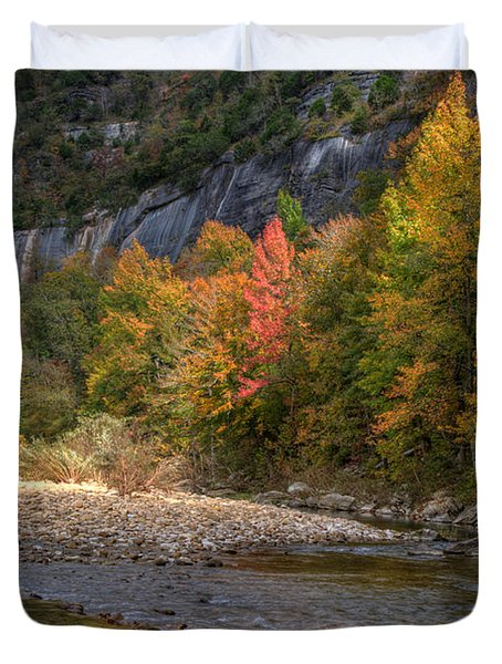 Duvet Cover featuring the photograph Sweetgums At Steel Creek  by Michael Dougherty