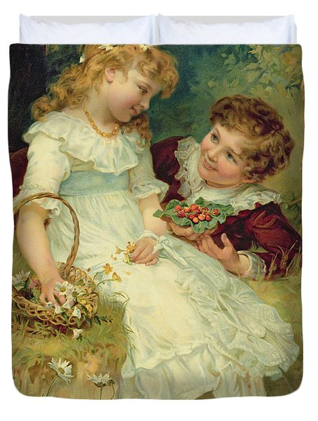Sweethearts Duvet Cover by Frederick Morgan