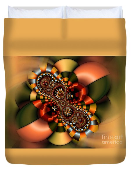 Duvet Cover featuring the digital art Sweets by Karin Kuhlmann