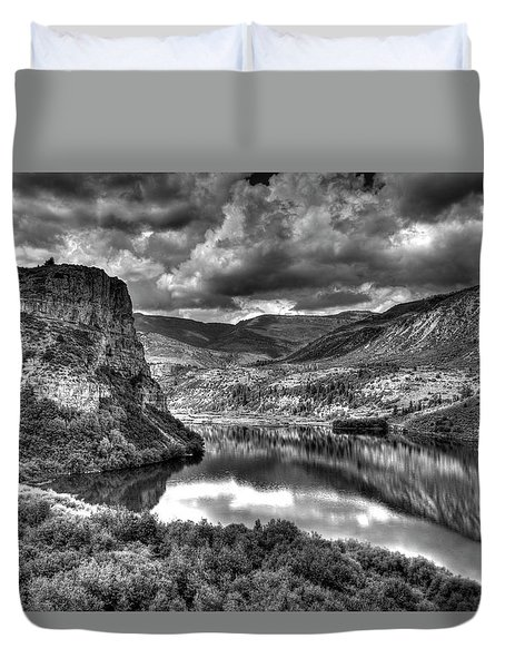 Sweetwater Lake 2 Bw Duvet Cover