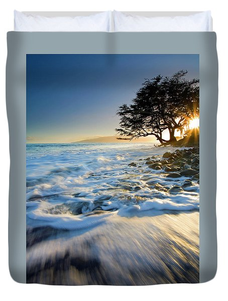 Swept Out To Sea Duvet Cover by Mike  Dawson