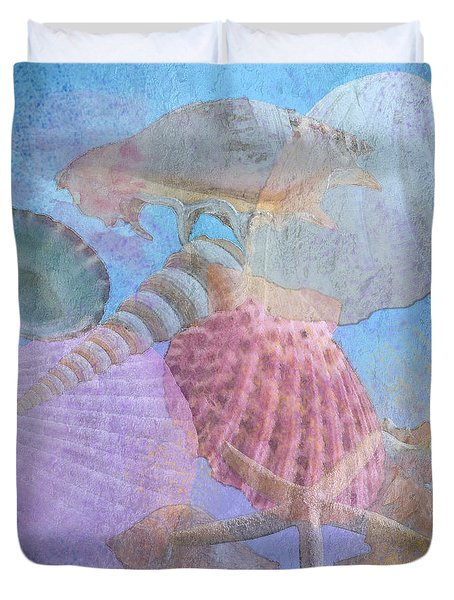 Swept Out With The Tide Duvet Cover by Betty LaRue