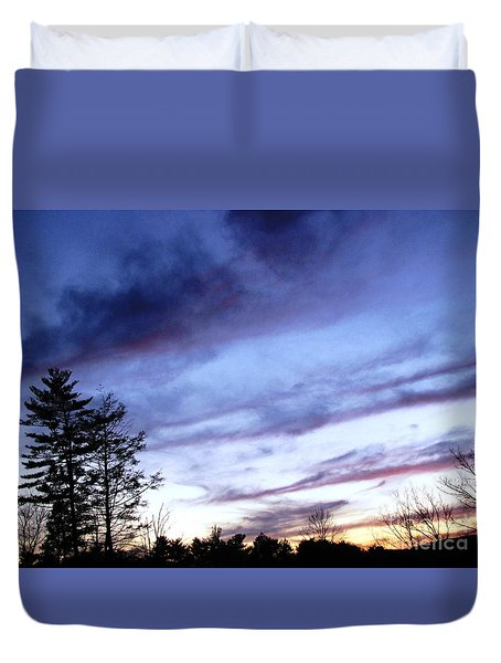 Duvet Cover featuring the photograph Swept Sky by Melissa Stoudt