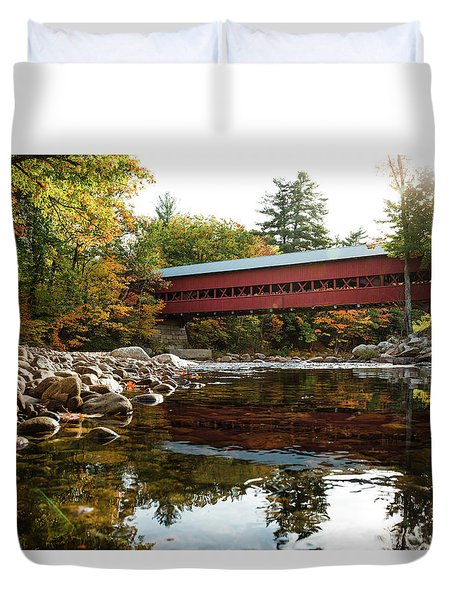 Swift River Covered Bridge Duvet Cover