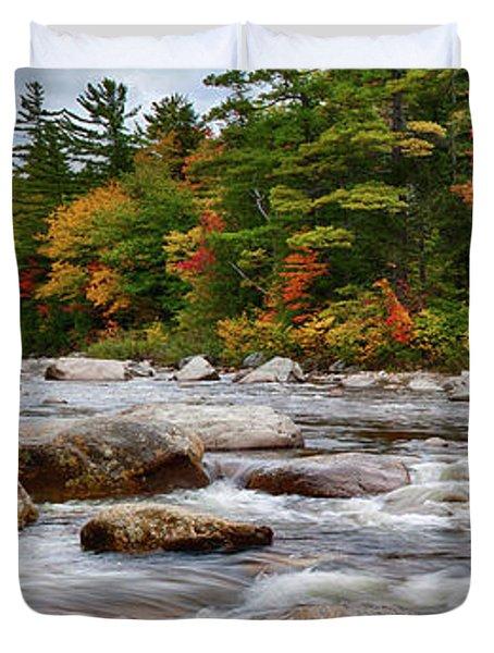 Swift River Runs Through Fall Colors Duvet Cover