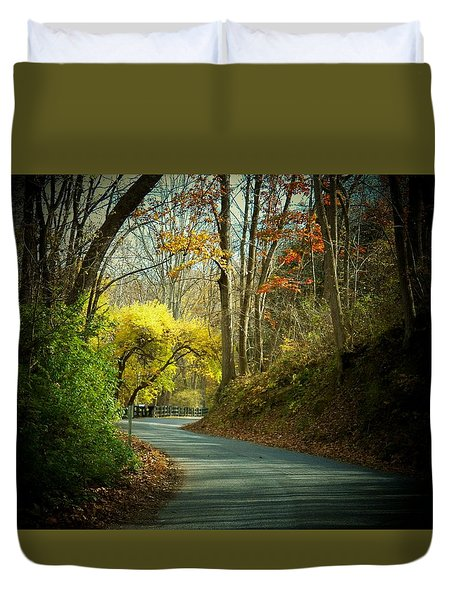 Swift Shoal Road Duvet Cover by Joyce Kimble Smith