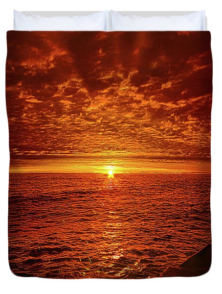 Duvet Cover featuring the photograph Swiftly Flow The Days by Phil Koch