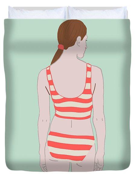Swim Duvet Cover by Nicole Wilson