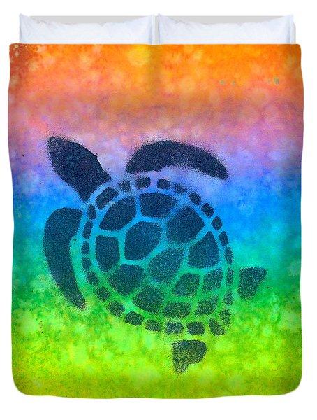 Swim Turtle 2 Duvet Cover