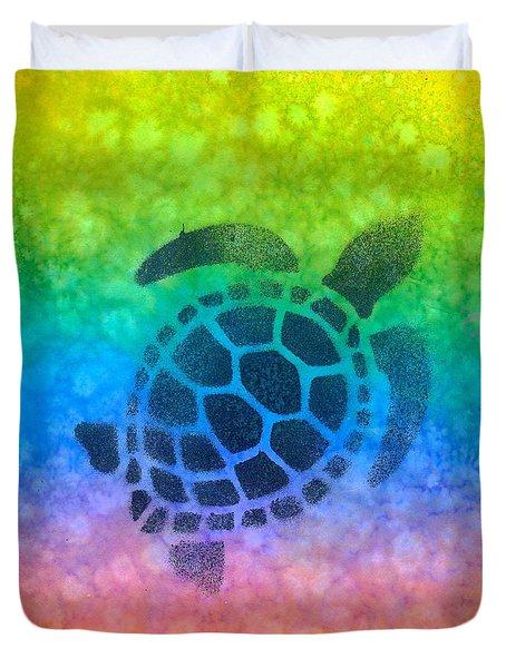 Swim Turtle Duvet Cover