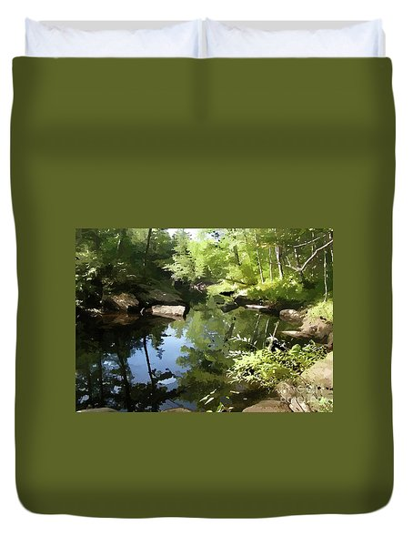 Swimmin' Hole Duvet Cover