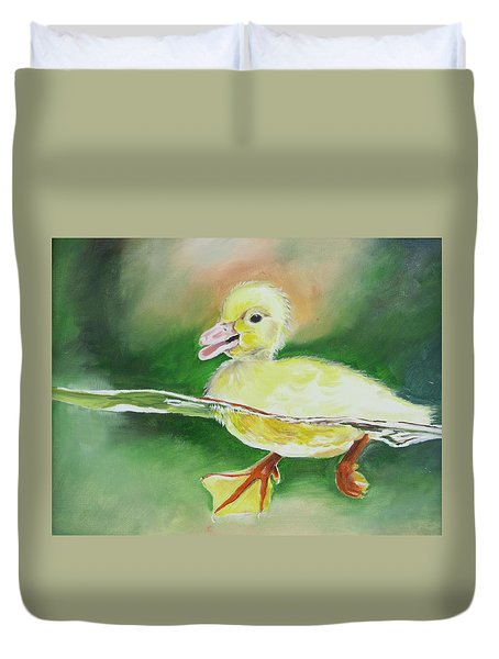 Swimming Duckling Duvet Cover