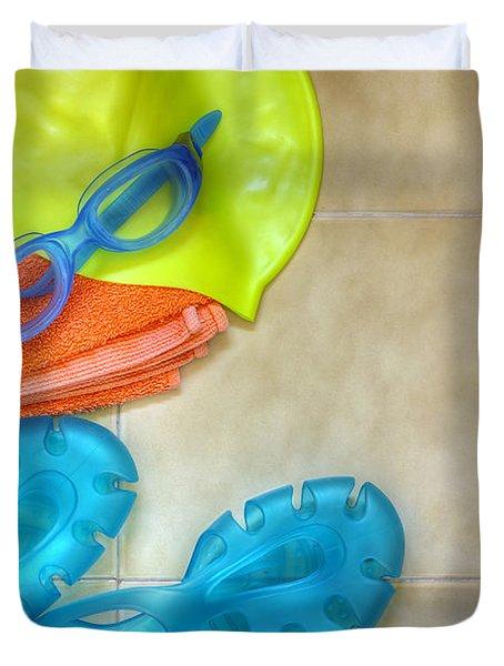 Swimming Gear Duvet Cover by Carlos Caetano