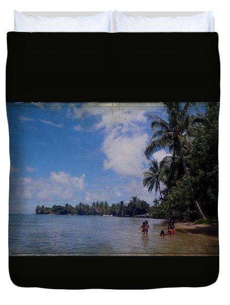Swimming In Moorea Duvet Cover