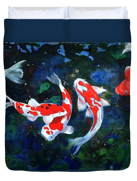 Swimming In Peace Duvet Cover