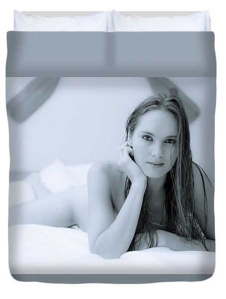 Swimming In Your Eyes Duvet Cover