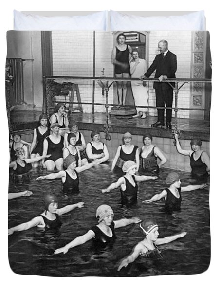 Swimming Lessons In Berlin Duvet Cover
