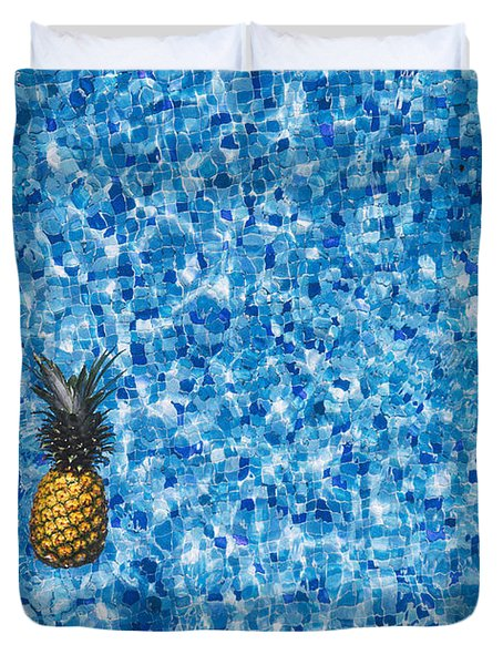 Swimming Pool Days Duvet Cover