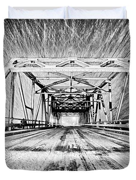 Swing Bridge Blizzard Duvet Cover