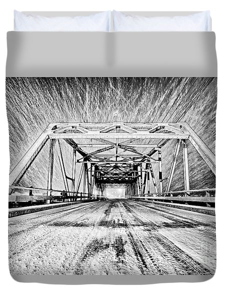 Swing Bridge Blizzard Duvet Cover