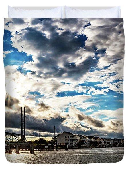 Swing Bridge Drama Duvet Cover