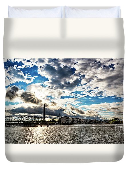 Swing Bridge Drama Duvet Cover