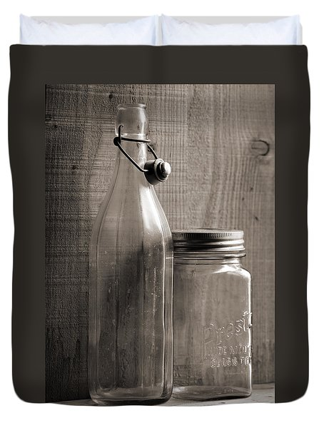 Jar And Bottle  Duvet Cover