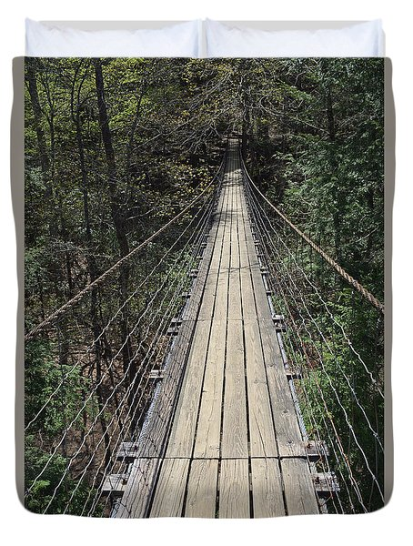 Swinging Bridge Falls Creek Falls State Park Duvet Cover
