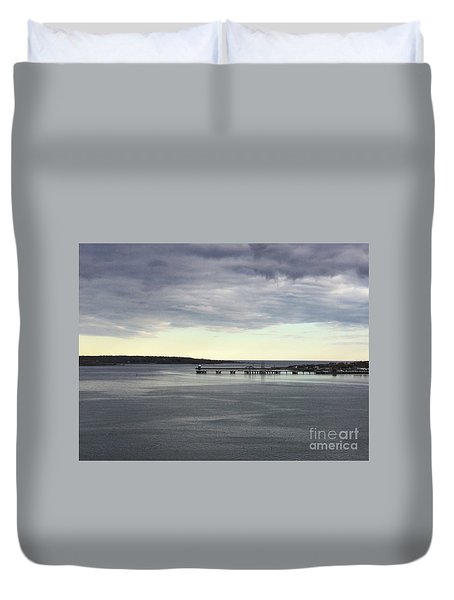 Swirling Currents On Casco Bay Duvet Cover