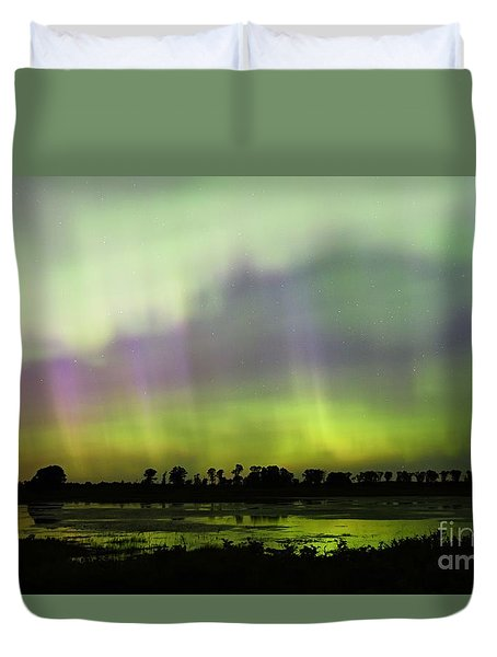Duvet Cover featuring the photograph Swirling Curtains 2 by Larry Ricker