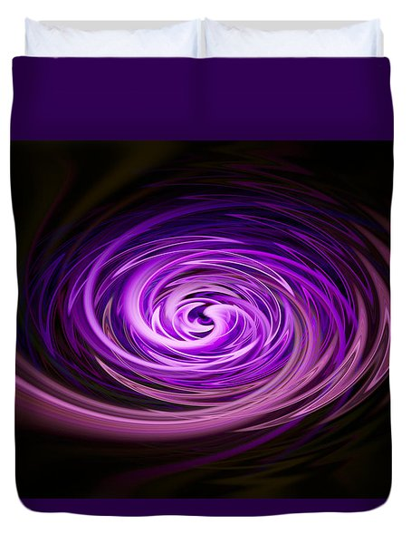 Duvet Cover featuring the photograph Swirling Zig Zag Abstract by Penny Lisowski