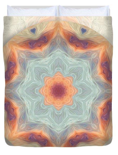 Swirls Of Love Mandala Duvet Cover