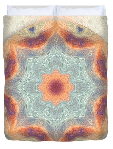 Swirls Of Love Mandala Duvet Cover
