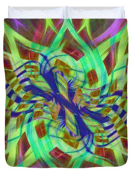 Swirly Floral Mandala 01 Duvet Cover