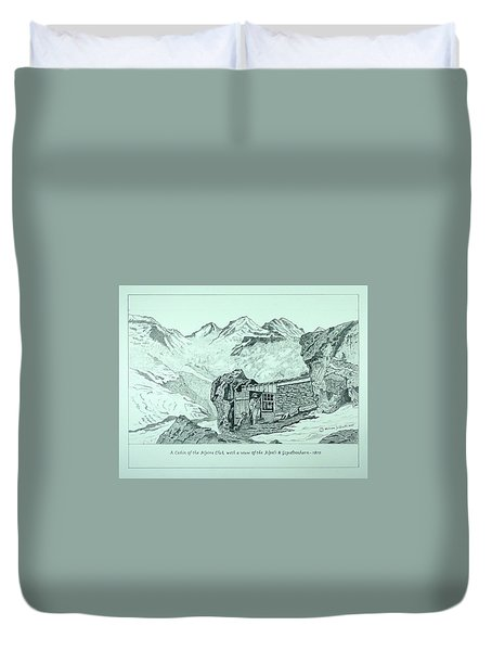 Swiss Alpine Cabin Duvet Cover