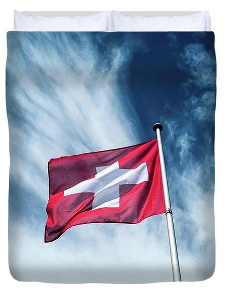 Swiss Flag Duvet Cover
