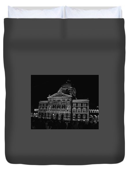 Swiss Parliament - Bern Duvet Cover