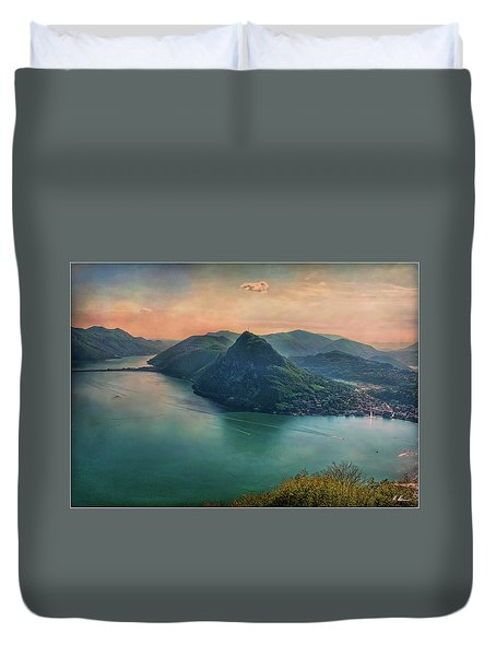 Duvet Cover featuring the photograph Swiss Rio by Hanny Heim
