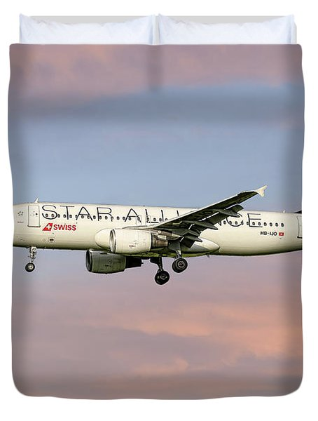 Swiss Star Alliance Livery Airbus A320-214 2 Duvet Cover