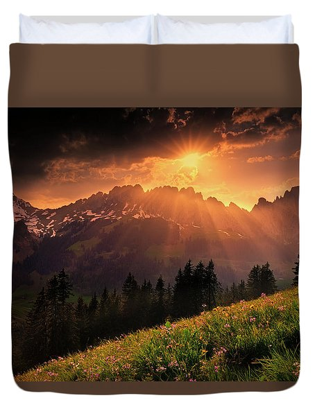 Swiss Teeths Duvet Cover