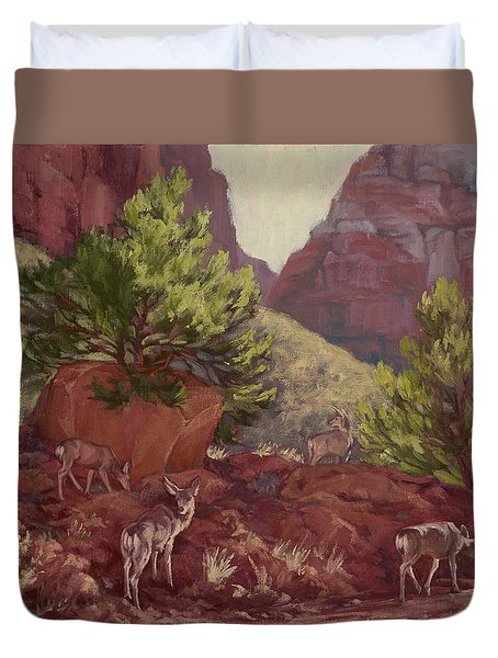 Switchback Stop For Wildlife Duvet Cover