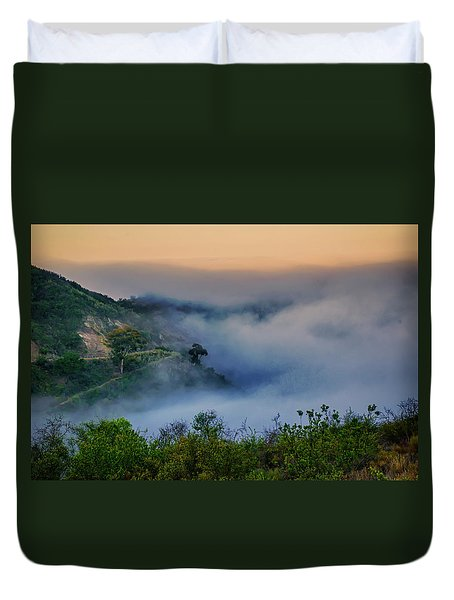 Switchbacks In The Clouds Duvet Cover