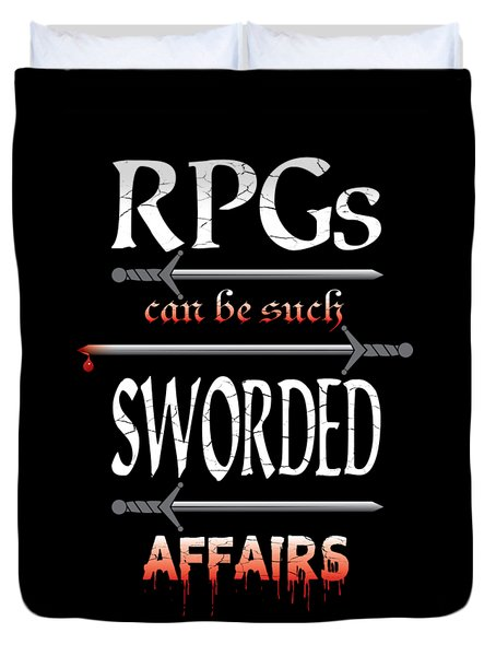 Sworded Affairs Duvet Cover
