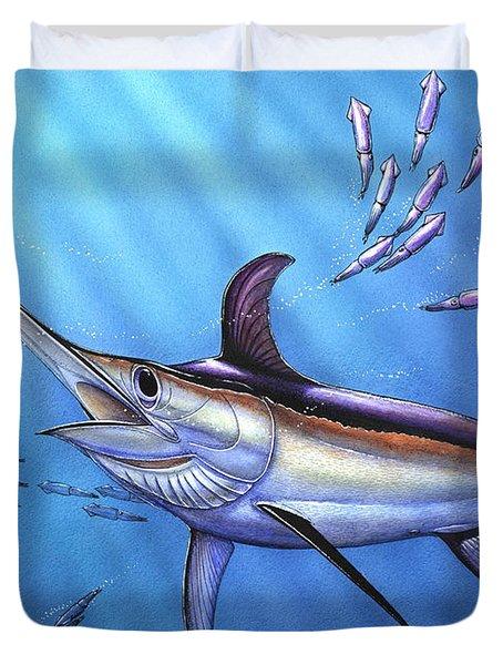 Swordfish In Freedom Duvet Cover